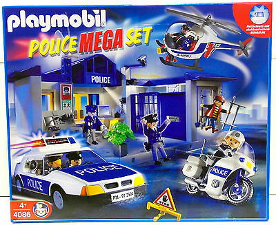 playmobil 9043 gro es polizei set mit 114 teilen neu und ovp eur 78 99 picclick de. Black Bedroom Furniture Sets. Home Design Ideas