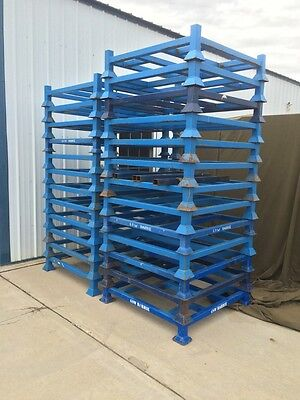 """Heavy Duty Stack Rack 42"""" X 42"""" Metal Stacking Pallet"""