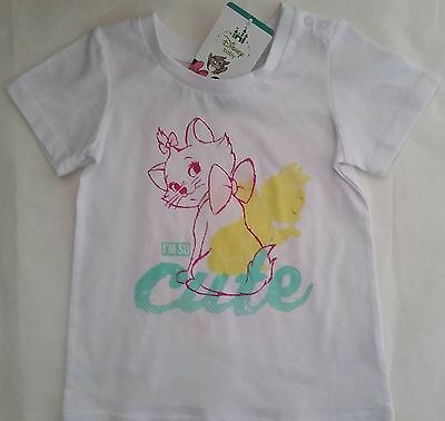 DISNEY ARISTOCATS MARIE licensed Girl s/sleeve t tee shirt top NEW sizes 000-2