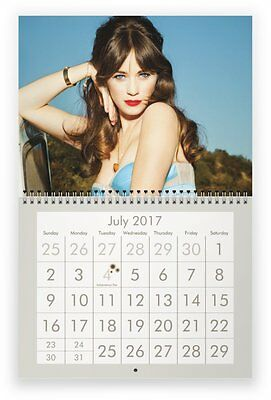 ZOOEY DESCHANEL 2017 Wall Calendar