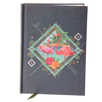 Flamingo Fox Hardback A6 Lined Note Book Birthday School College Mum Daughter