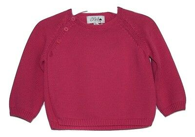Bebe By Minihaha Baby Girl Jumper Sweater Knit Long Sleeve Top - Pink Size 00 0