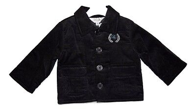 Bebe By Minihaha Baby Boy Fully Lined Cord Jacket - Flannel Grey Size 00 3-6M