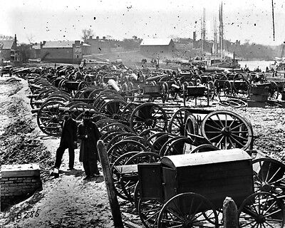 New 11x14 Civil War Photo: Park of Captured Guns at Rocketts in Richmond - 1865