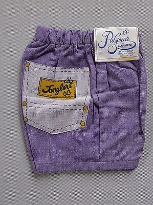 Vintage retro true 1950s age 3 shorts unused purple toddler NOS tags Janglers