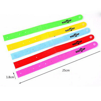 5 pcs Mosquito Killer Repellent Bracelet Bangle Wrist For Baby Adult Protector