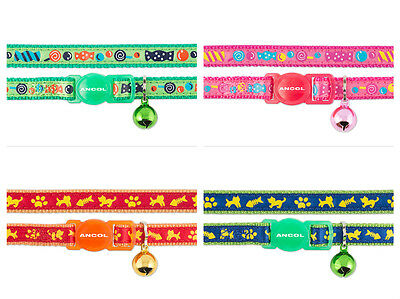 Ancol Cat & Kitten Collars – Cat & Fish & Sweeties– With safety buckles