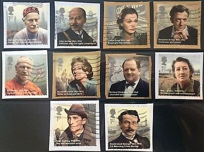 GB Stamps 2013  Great Britons Full Set. Good used Singles available!