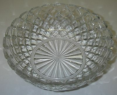 """Anchor Hocking Glass WATERFORD Clear Waffle Cereal Bowl 5½"""" Depression"""