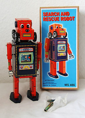 Tintoy, Blechspielzeug, Search and Rescue Robot, 16 cm, Uhrwerk ok. MS 486 China