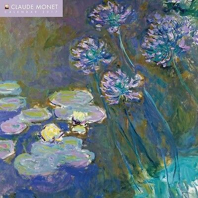 Claude Monet Official Wall Calendar 2017 New and Sealed 12 x 12