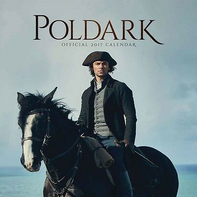 Poldark Official Wall Calendar 2017 New and Sealed 12 x 12