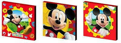 Mickey Mouse Clubhouse - Canvas Art Blocks/ Wall Art Plaques/pictures