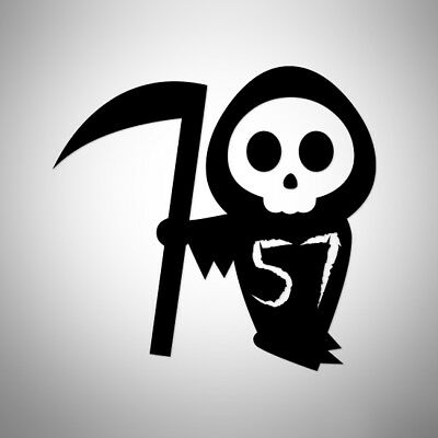 Grim Reaper + Your House Number Wheelie Bin Decal Sticker Spooky Skeleton