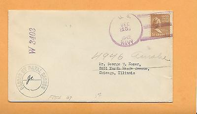 Us Navy W 3403 Passed By Naval Censor Dec 15,1942