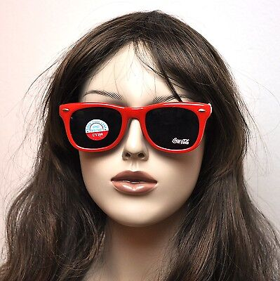 Coca Cola Coke Vintage USA Party Nerd Specs Spectacles Sunglasses red-white