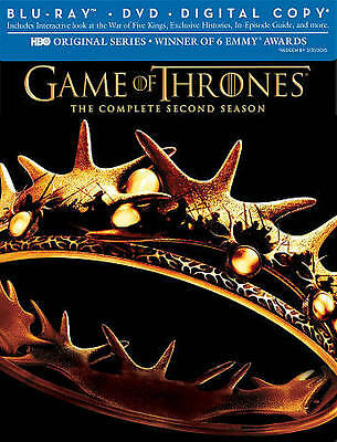 Game of Thrones: The Complete Second Season (Blu-ray/DVD, 2013, 7-Disc Set,...