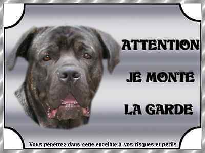 Plaque De Garde En Alu Attention Au Chien Cane Corso Bringe