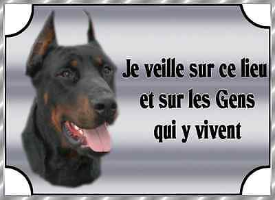 Plaque De Garde En Alu Attention Au Doberman