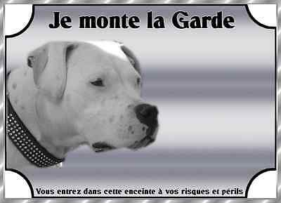 Plaque De Garde En Alu Attention Au Dog Argentin