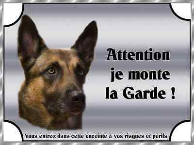 Plaque De Garde En Alu Attention Au Chien Malinois