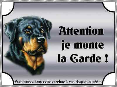 Plaque De Garde En Alu Attention Au Chien Rottweiler