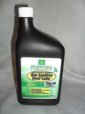 Renewable Lubricants Biobased Biodegradable 75W90 LS GL-5 Gear Lube Oil 1 Quart