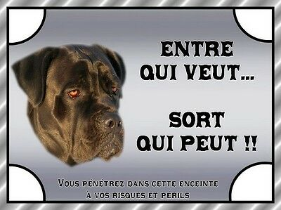 Plaque De Garde En Alu Attention Au Chien Cane Corso