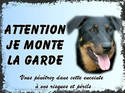 Plaque De Garde En Alu Attention Au Chien Beauceron