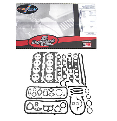 Bbc Big Block Chevy 454 427 396 V8 2 Pc Rear Seal Full Complete Gasket Set
