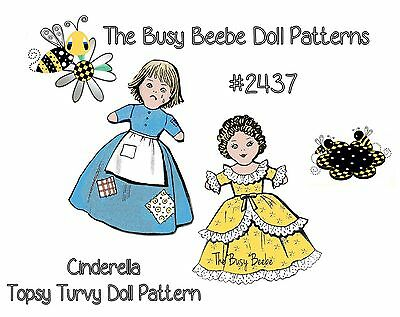 Cinderella (Rags To Riches) Vintage Topsy Turvy Doll Pattern