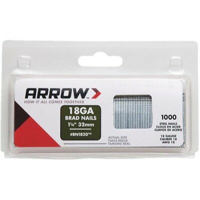 Arrow Fastener BN1820CS 1-1/4-Inch Brad Nails, 18-Gauge