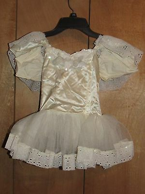 OFF WHITE CHILDS BALLET DANCE COSTUME (Sz 8) - FREE US SHIPPING!