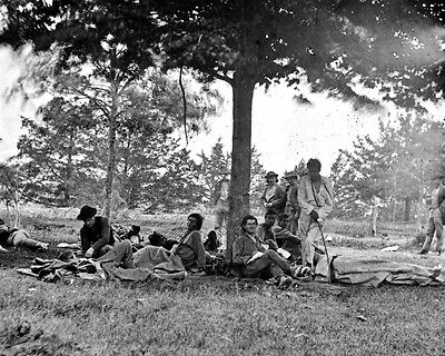 New 11x14 Civil War Photo: Wounded after the Battle of Fredericksburg, Virginia