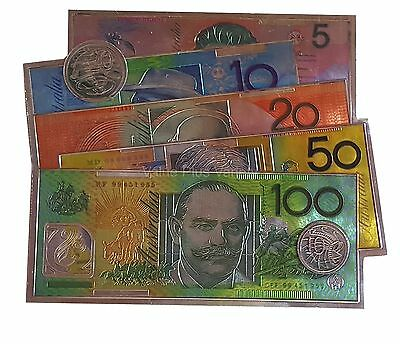 Australian Souvenir Australia Money Notes Coins Rubber Foil Fridge Magnet