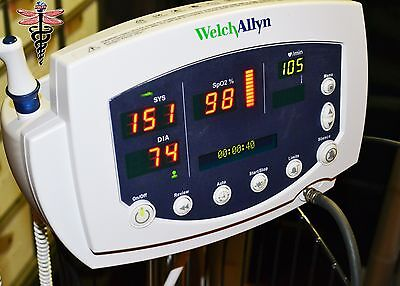 Welch Allyn 53NTO Vital Signs Monitor 300 Series SpO2 Temp NIBP w/ Accessories