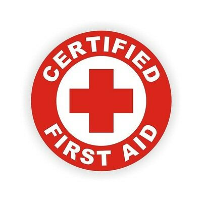 3pc Certified First Aid Hard Hat Decal Helmet Vinyl Sticker Safety Label Safe