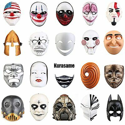 Adult Cosplay Mask Resin Full Face Fancy Halloween Anime Movie Costume Party lot