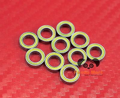 10pcs MR74-2RS (4x7x2.5 mm) Yellow Rubber Sealed Ball Bearing Bearings 4*7*2.5