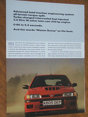 1992 Nissan GTI - R Turbo original UK two page advertisement