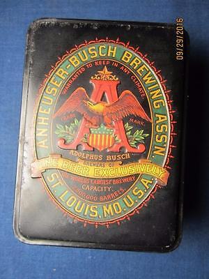 Anheuser Busch Brewing Budweiser Greatest Triumph Playing Cards Unused in Tin