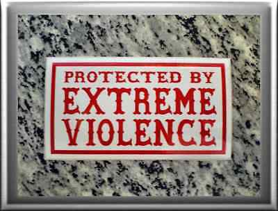 """HELLS ANGELS Support 81 Sticker Aufkleber """"PROTECTED BY EXREME VIOLENCE"""""""
