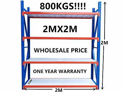 *2Mx2M* Garage Warehouse Steel Storage Shelving Shelves Racking Racks