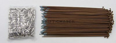 36 Piece Brown Bicycle Spokes for 20 inch Bmx Bike Wheels, 14g x 184mm Long