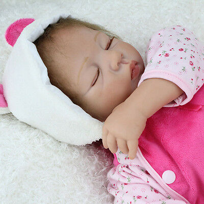 """22"""" Reborn Baby Doll Realistic Newborn Doll Baby Playmate Christmas Gifts Toys"""