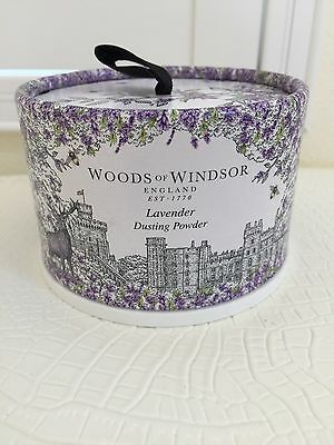 New WOODS OF WINDSOR ENGLAND LAVANDE LAVENDER Dusting Powder 3.5 oz/100g NIB