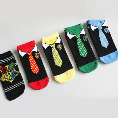 Girls Womens Cotton Socks Lot Harry Potter Hogwarts Casual Dress Ankle Socks