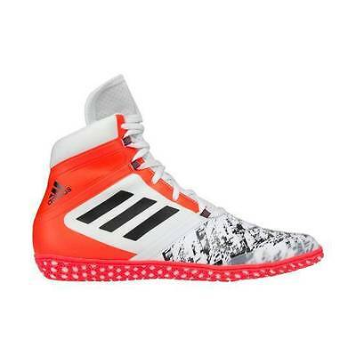 Adidas Wrestling Flying Impact Boots Shoes White Red Adults - AQ3319