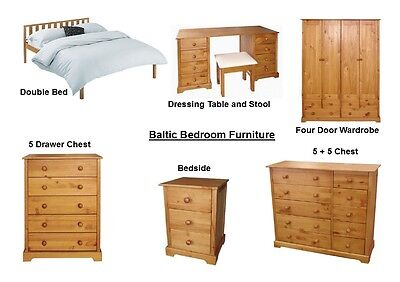 Baltic Antique Pine Bedroom Furniture - Beds Wardrobes, Chests - 3ft 4ft6