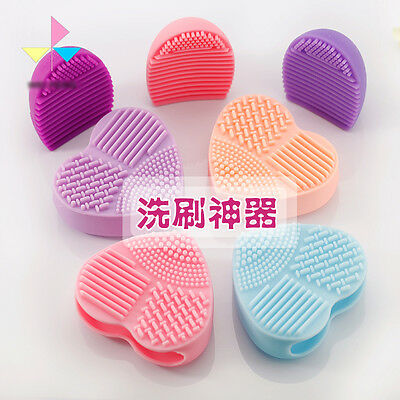 Makeup Brush Cleaner Heart Brush Egg Cleaning Glove Washing Brush Scrubber Board